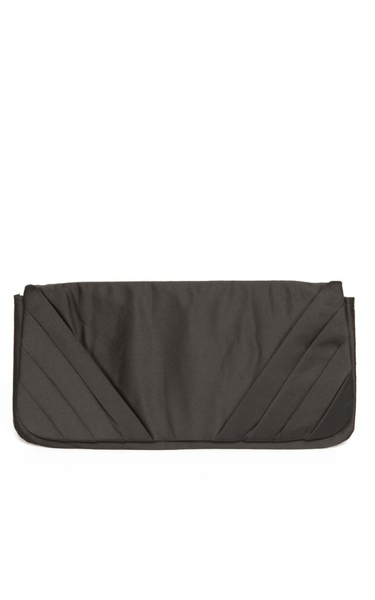 Pika Satin Pleated Side Clutch Bag