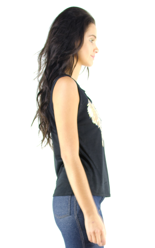 Kaitlyn Gold Heart Print Vest