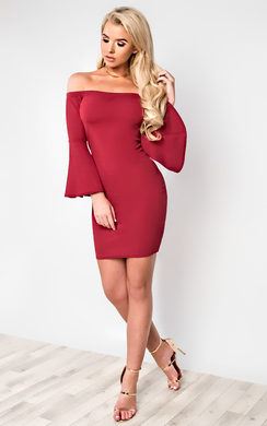 Gwen Off Shoulder Bodycon Dress