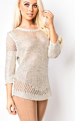 Bexie Metallic Knitted Jumper