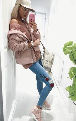 Sabsi Embroidered Skinny Jeans
