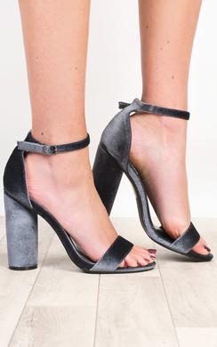 Evelyne Velvet High Heels