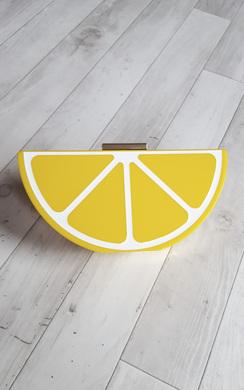 Tiera Lemon Clutch Bag