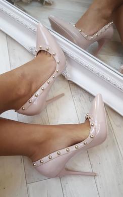 Lala Studded Court Heels