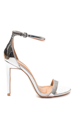 Alesia Metallic Barely There Heels