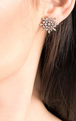 Mia Diamante Snow Flake Earrings