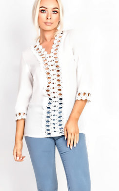 Jayla Crochet Embroidered Blouse
