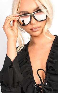 Vivienne Rose Gold Aviator Sunglasses