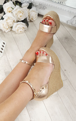 Oliviah Stud Strappy Wedge Sandals