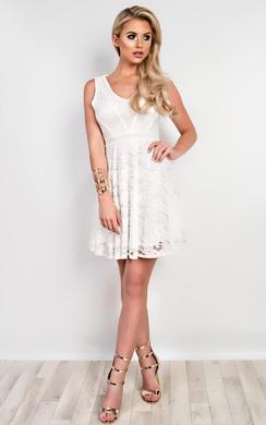 Amber Lace Skater Dress