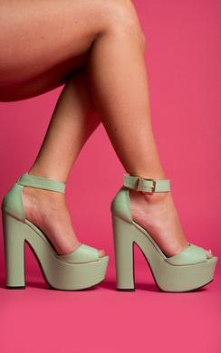 Zemora Peep Toe Heels