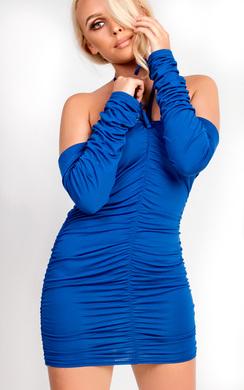 Isla Ruched Bodycon Choker Dress
