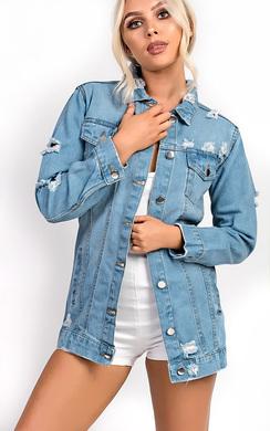 Naz Distressed Denim Jacket