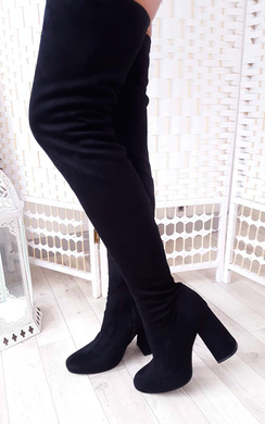 Abigail Faux Suede Knee High Boots
