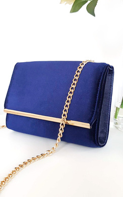 Millar Velvet Gold Chain Cross Body Bag
