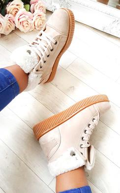 Layla Faux Suede Hi-Top  Platform Shoes