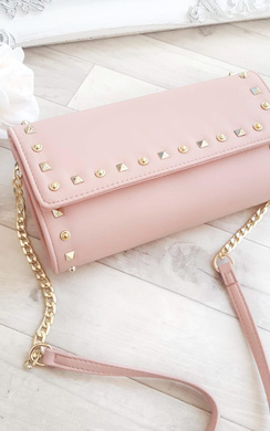 Niah Studded Envelope Clutch Bag