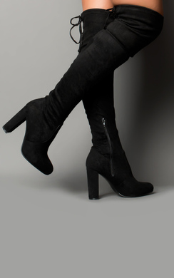 Lakenya Faux Suede Knee High Boots