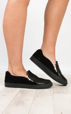 Bindy Crocodile Skin Slip On Shoes