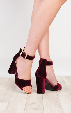 Lindsay Suede Effect High Heels