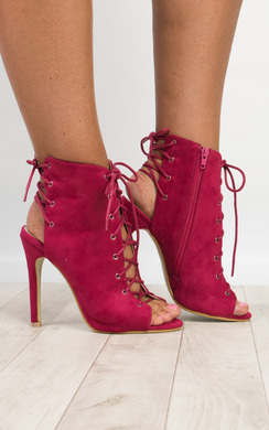 Radelle Peep Toe Lace-Up Heels