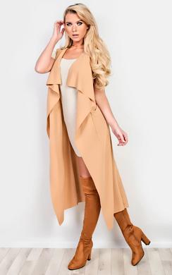 Kasey Sleeveless Duster Coat