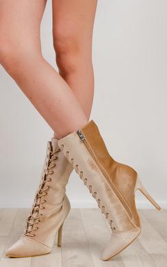 Kimberly Velvet Ankle Boots