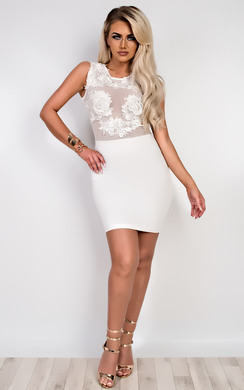Halle Applique Bodycon Dress