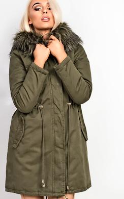 Samantha Faux Fur Parka Jacket