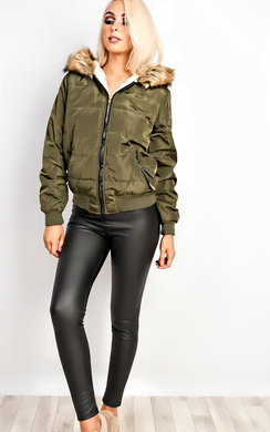 Racquel Faux Fur Quilted Jacket