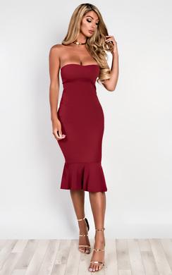 Brianna Frill Midi Dress