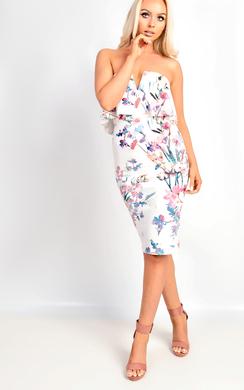 Anike Floral Bandeau Dress