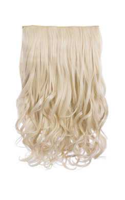 Intense Volume Clip In Hair Extensions - Curly Light Blonde