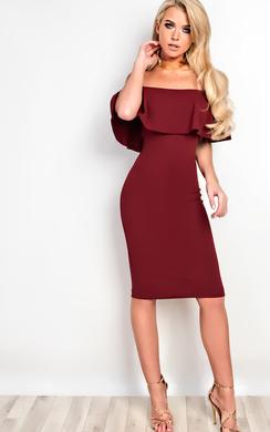 Kiara Bardot Bodycon Dress