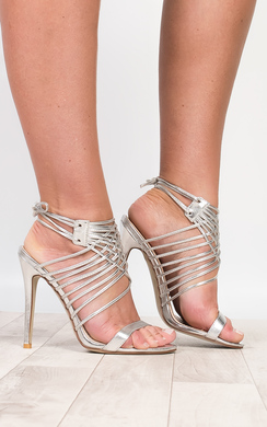 Mandy Lace Up High Heels