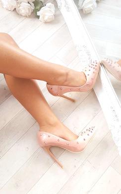 Chloe Studded Court Heels
