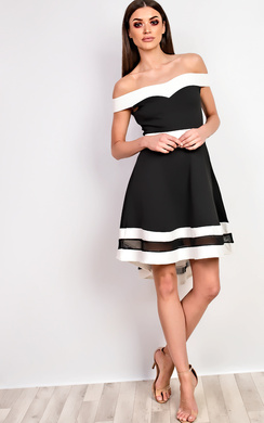 Jess Off Shoulder Skater Dress