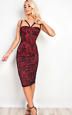 Elissa Sparkly Strappy Bodycon Dress