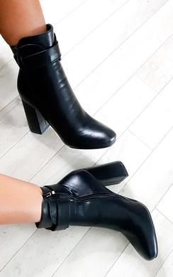 Tiara Hoop Zip Ankle Boots
