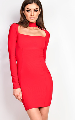 Ravenna Choker Neck Bodycon Dress