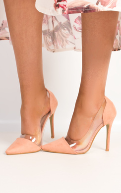 Milly Patent Clear Panel Court Heels