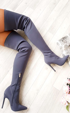 Zara Stretch Thigh High Boots