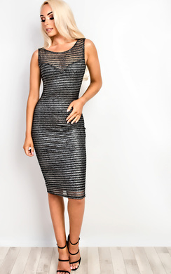 Marisa Mesh Bodycon Dress