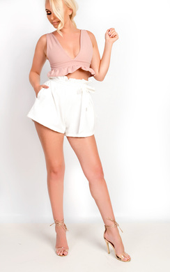 Taylor Paperbag Tie Tailored Shorts
