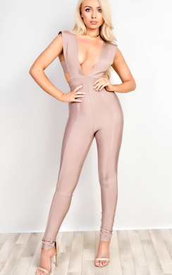 Aisha Bandage Bodycon Jumpsuit