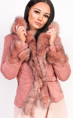 Tamsin Faux Suede Fur Jacket