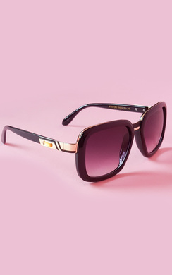 Yolanda Black Metal Detail Sunglasses