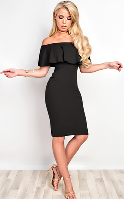 Kiara Bardot Bodycon Dress