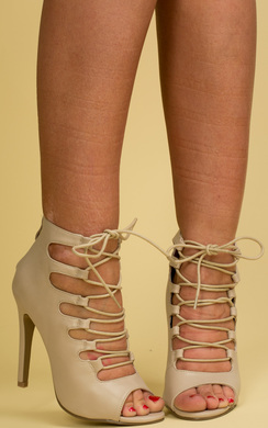 Lilium Faux Leather Strappy Heels