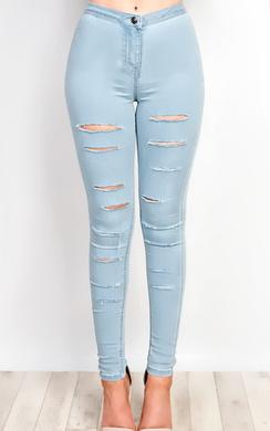 Alisiah Ripped Skinny Jeans